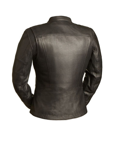 Leather Jackets - The Sportress Womens Leather Motorcycle Jacket | The Alley
