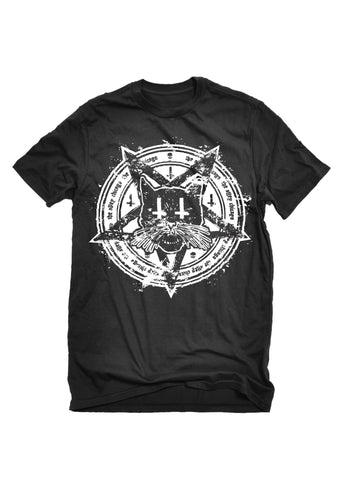 T-Shirts - The Alley Chicago Black Cat Pentagram T-shirt
