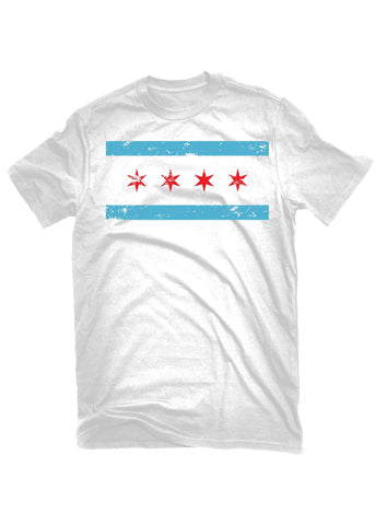 T-Shirts - The Alley Chicago Distressed Flag White T-shirt