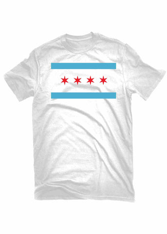 T-Shirts - The Alley Chicago Flag White T-shirt