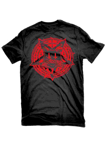 T-Shirts - The Alley Chicago Red Cat Pentagram T-shirt