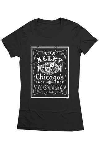 T-Shirts - The Alley Chicago Rock Shop Womens' T-shirt