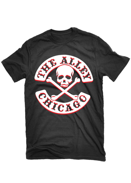 T-Shirts - The Alley Chicago  White/ Red Skull T-shirt