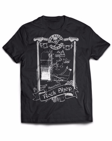 T-Shirts - The Alley Drum Pedal Blueprint Tshirt