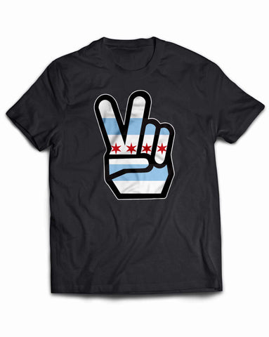 Chicago Flag Peace Sign Shirt