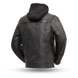 vendetta mens leather jacket rear view
