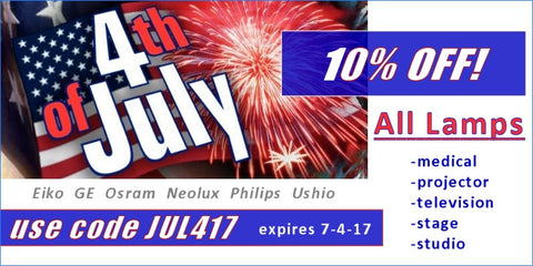 DynamicLamps.com July 4th Special 2017!  Take 10% Off Your Lamp Order Now At Checkout!  Use Code JUL417.  Expires 7-4-17.