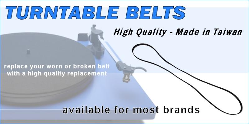 Replacement High Quality Turntable Belts In Stock For Many Popular Brands!  $4.99ea.