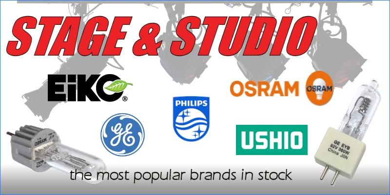 Offering the most popular stage and studio lamps and bulbs!