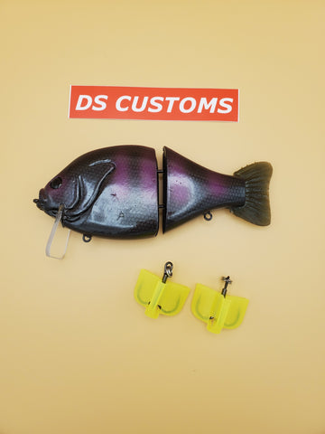 DS CUSTOMS LURES PURPLE AND BLACK
