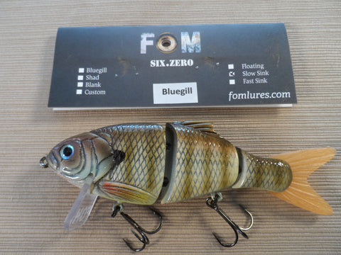FOM LURES WAKE SLOW SINK BLUE GILL