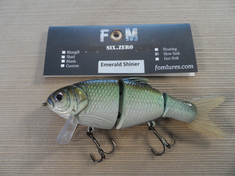 FOM LURES SIX.ZERO SLOW SINK EMERAL SHINER