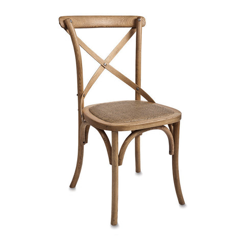 Cross Back Dining Chair Pacific Oak