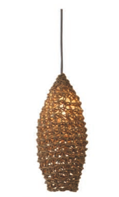 Thick Weave - Woven Oval Paper Pendant Shade Natural
