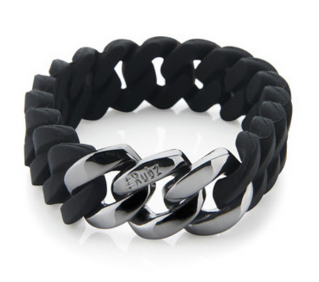 The Rubz Bracelet Black & Gunmetal 15mm