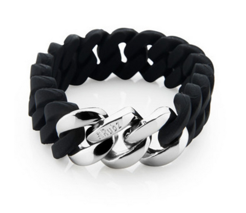The Rubz Bracelet Black & Silver 15mm