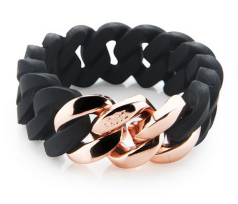 The Rubz Bracelet Black & Pink Gold 20mm