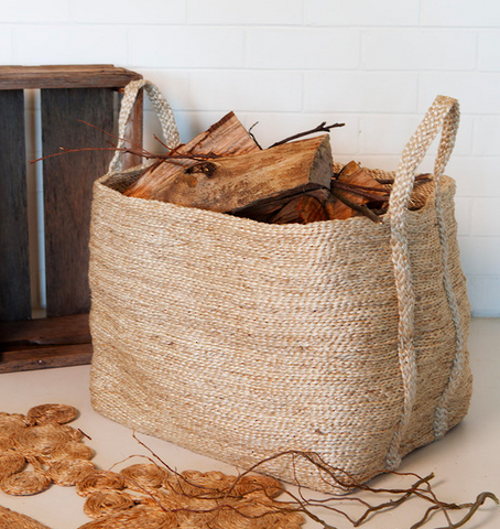 Jute Basket - Large Natural