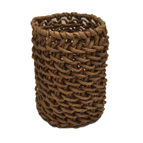Tall Woven Paper Basket Large