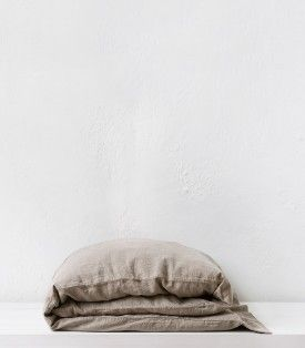 Pair of Standard Natural State (undyed) Pure Flax Linen Pillowcases