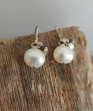 Pearl Charm Earrings