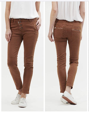Classic Button Fly Jeans - Rust