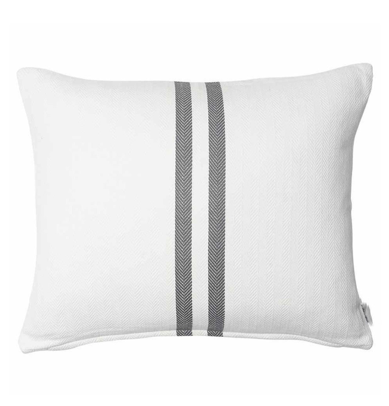 Herringbone Stripe Cushion - Slate