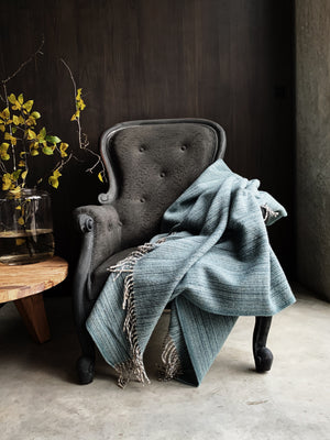 York Wool Throw - Duckegg