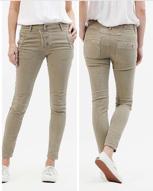 Classic Button/Fly Jeans - Beige