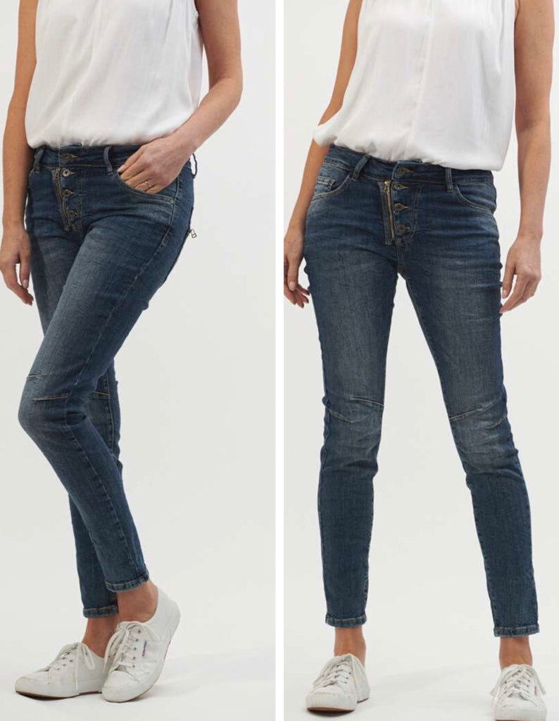 Classic Button Fly Jeans - Denim
