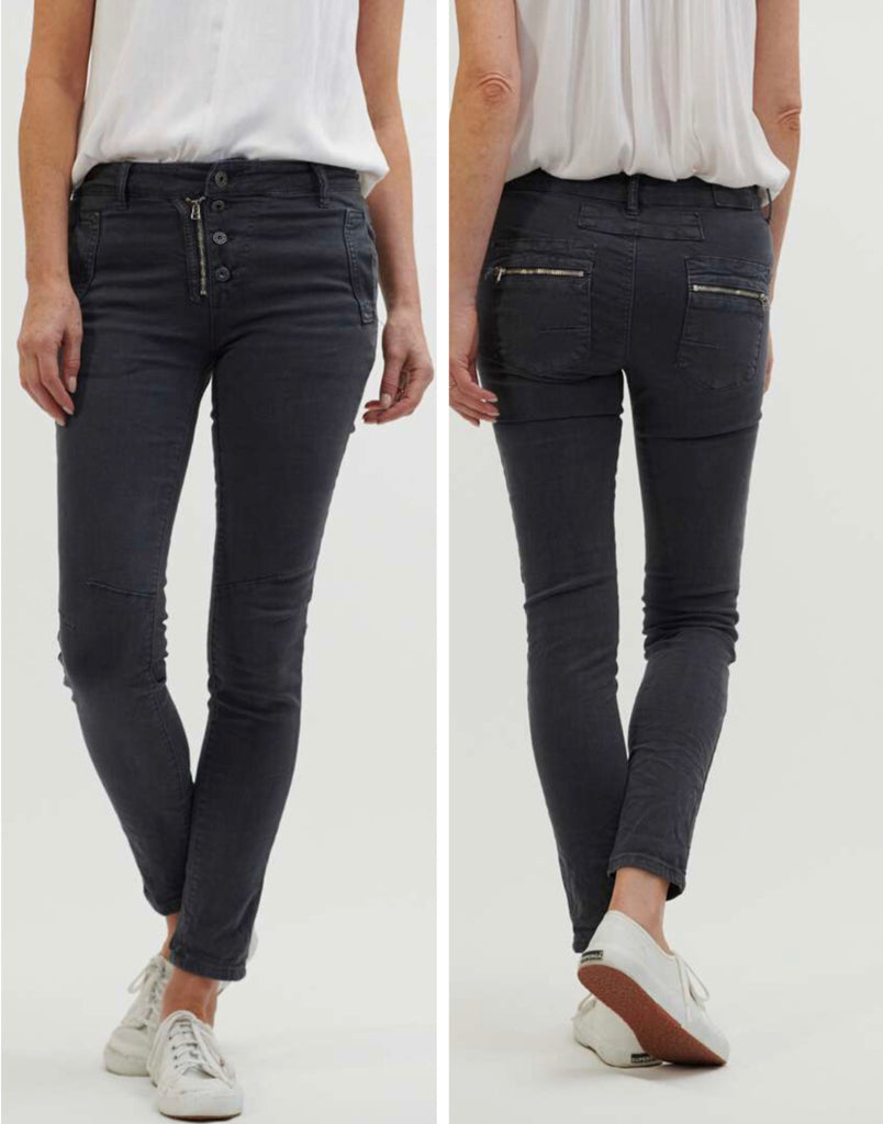 Classic Button Fly Jeans - Coal
