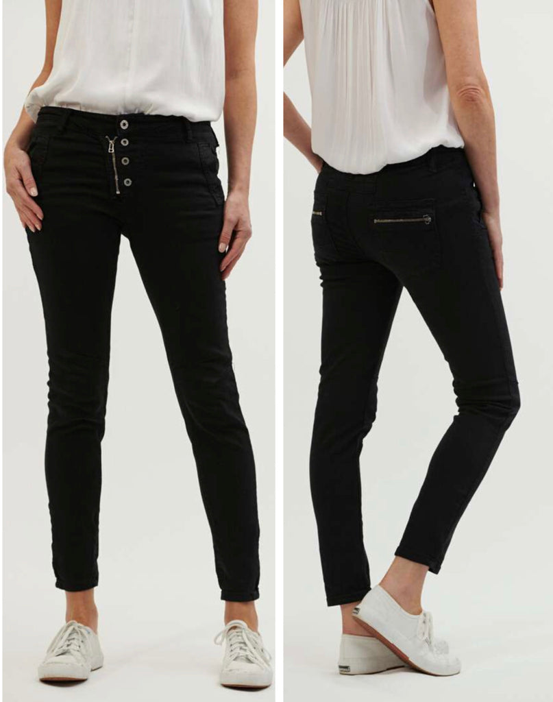 Classic Button Fly Jeans - Black