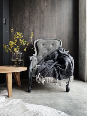 York Wool Throw - Black