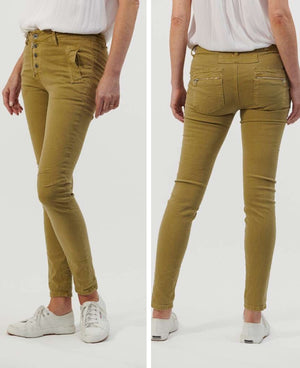 Classic Button Fly Jeans - Wasabi