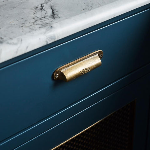Curio '1856' Drawer Pull - Brass