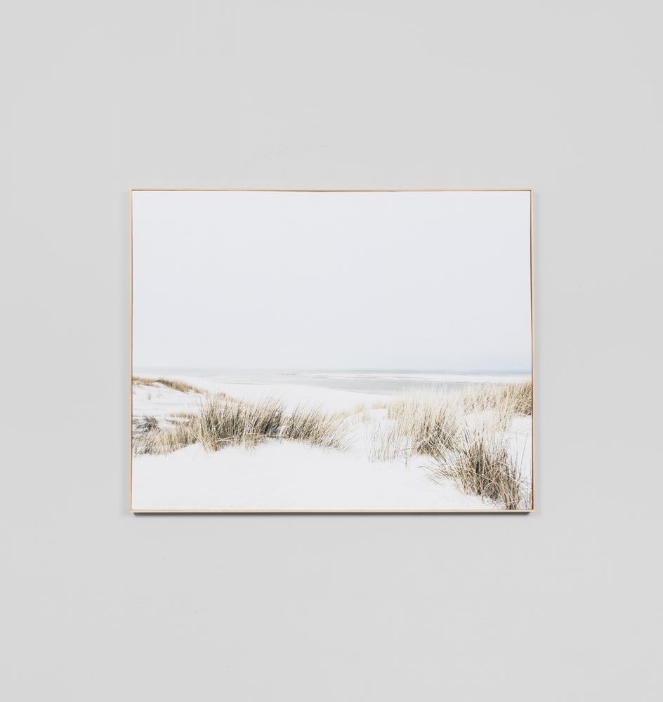 Grass and Sand Dunes Box Framed Canvas