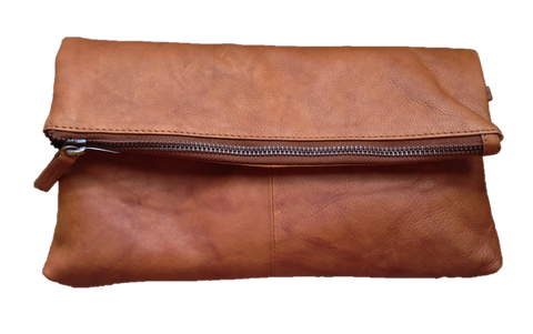 Tan Leather Clutch/Handbag