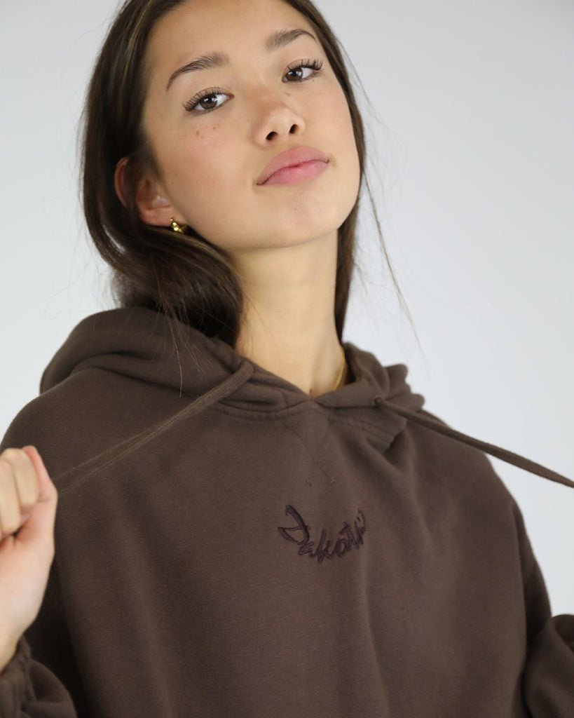 Smiley Hoodie: Chocolate