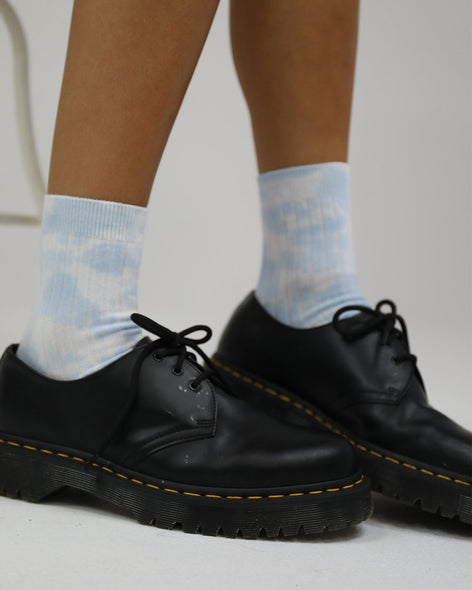 Cotton Rib Socks Cloudy Tie  Dye