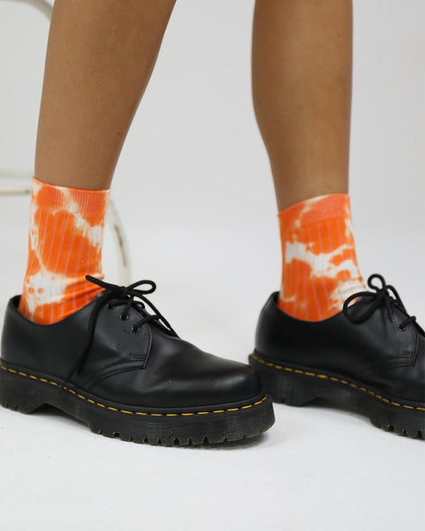 Cotton Rib Socks Mandarin