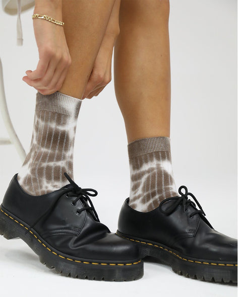 Cotton Rib Socks Milkshake Tie Dye