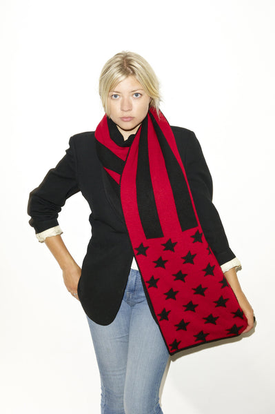 THE VOTARY SCARF - Black Red