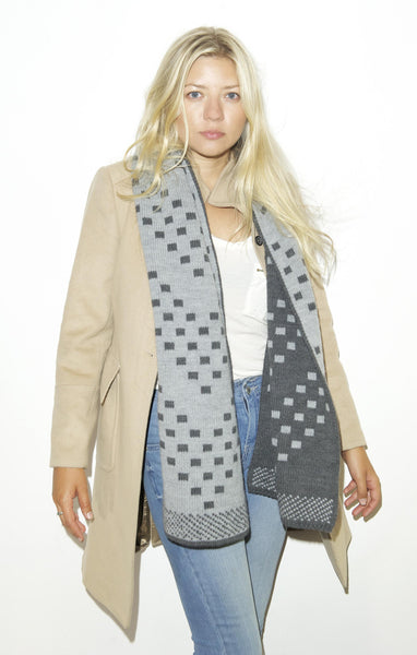 TABERNACLE SCARF - Charcoal Grey