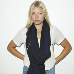THE VOTARY SCARF - Black Navy