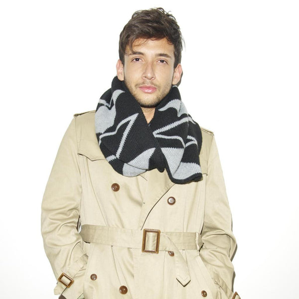 SANSOM SCARF - Black Grey