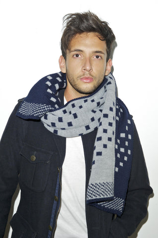 TABERNACLE SCARF - Navy Grey