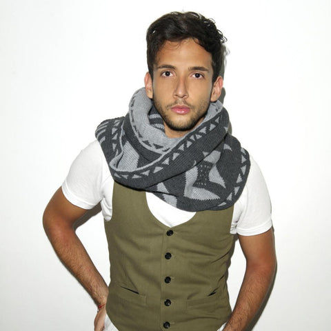 KENT SCARF - Charcoal Grey
