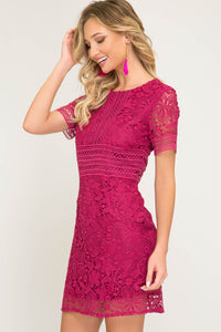 Half Sleeve Lace Dress