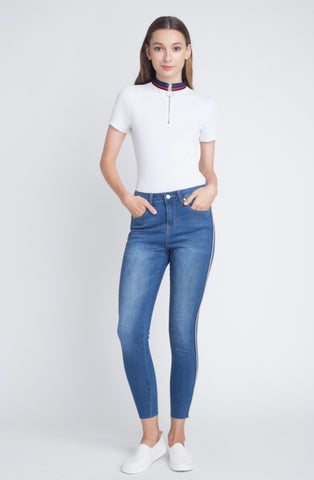 High-Rise Side Stripe Jean