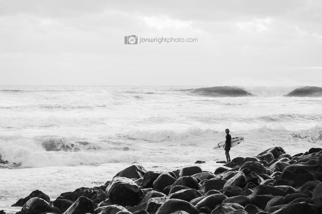 The lone surfer - Burleigh Heads
